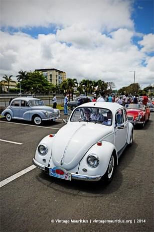 White VW Beetle Classic Vintage Car Mauritius