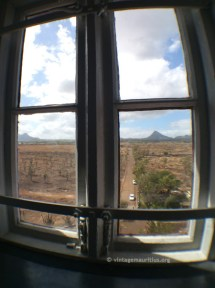 Window over the entrance of the lighthouse