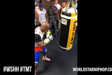 Floyd Mayweather Training In Las Vegas For Mayweather vs. Maidana