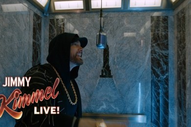 """Eminem Performs """"Venom"""" at the Top of the Empire State Building"""