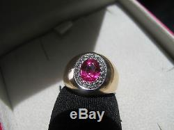 A Stunning Vintage 18ct Yellow Gold Natural Ruby Diamond