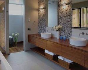 Decoración de baño moderno