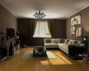 Decoración de salón con piso de madera