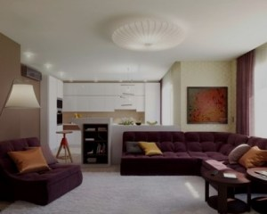 Interiores de chalets salón