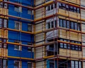Rehabilitación de edificio azul