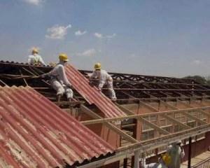 Trabajos finales de sustitución del amianto