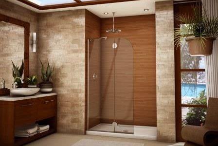 Remodelação de casa de banho com revestimento em pedra.