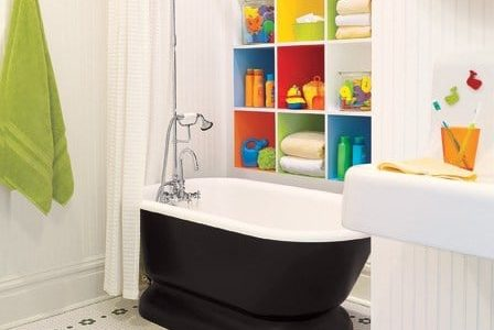 Remodelação de casa de banho para criança.