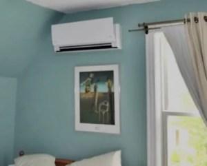 Ar condicionado em quarto