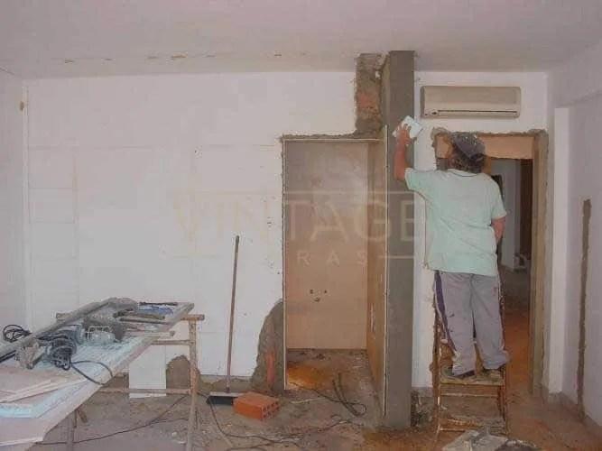 Remodelação geral: Remate de parede