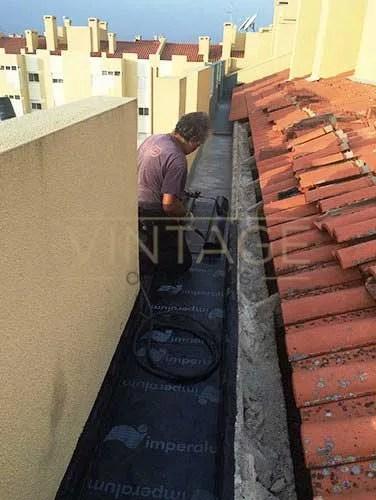 Impermeabilização de caleira