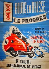 Burgh En Bresse Motorcycle Poster