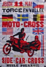 Side Car Motorcycle Poster
