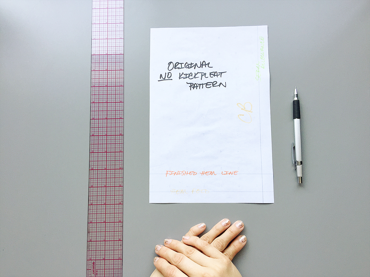 How to Draft a Kickpleat Pattern | @vintageontap