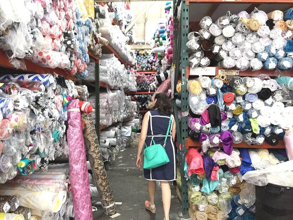 Fabric warehouses in the LA Garment District | @vintageontap