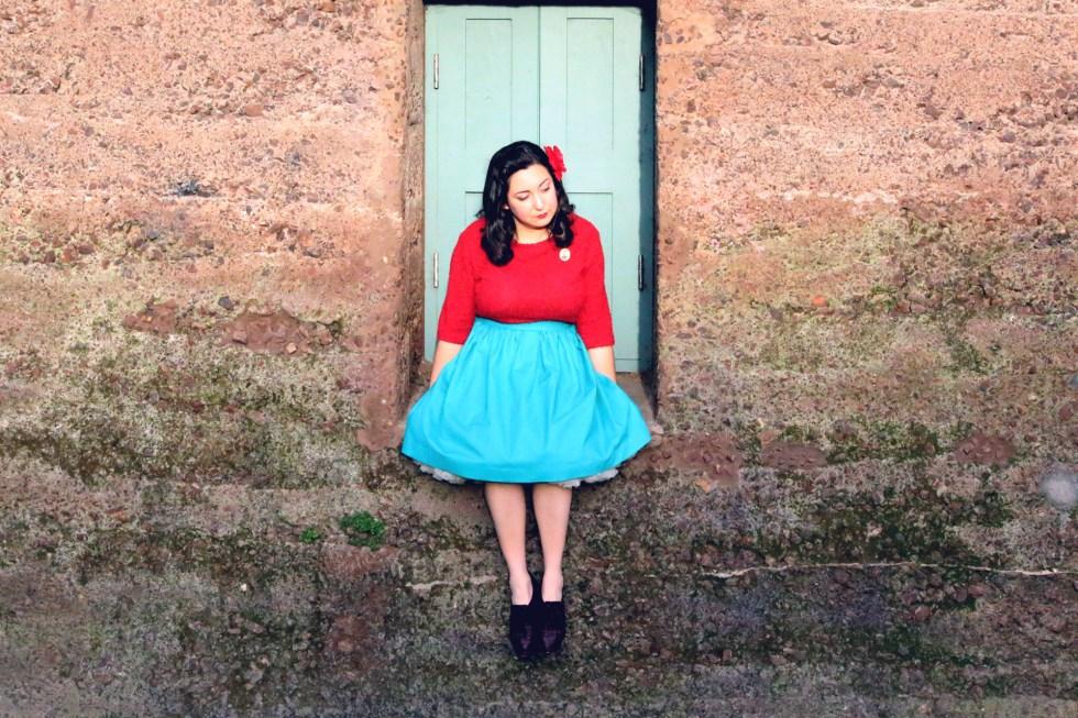 Dirndl Skirt, 50s Inspired | @vintageontap