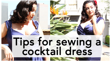 Tips for Sewing a Cocktail Dress, Butterick B5814! | Vintage on Tap
