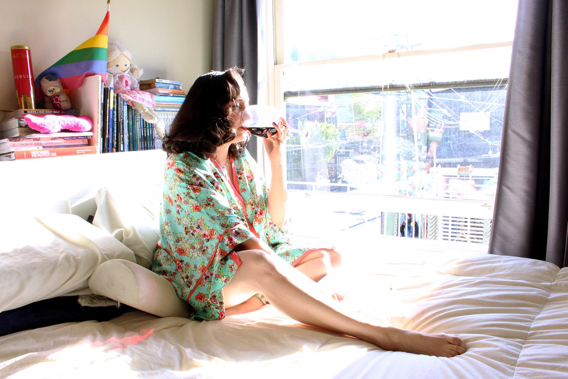 How to sew a robe, the Spring Seamwork Almada Robe | @vintageontap