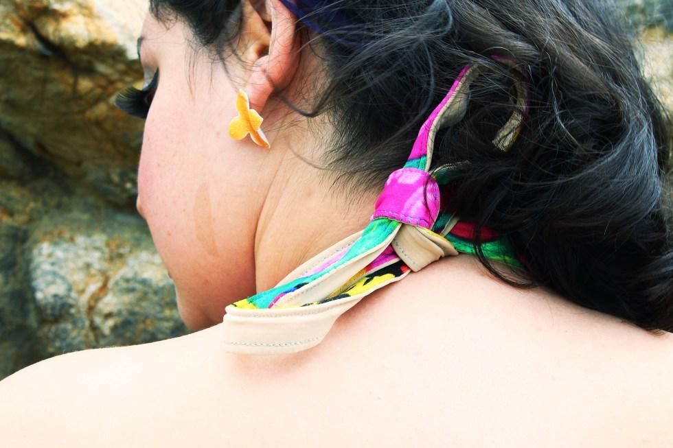 Halter top back detail, Pinup bathing suit, McCalls M7168 | @vintageontap