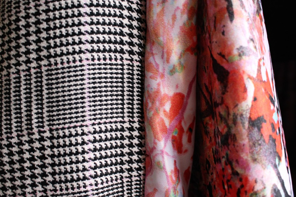 Beautiful fabric used when sewing a vintage lining | Vintage on Tap