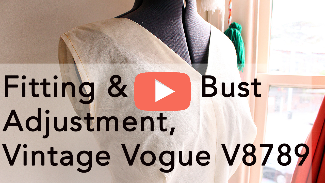 Vogue 8789, vintage sewing and full bust adjustment   Vintage on Tap