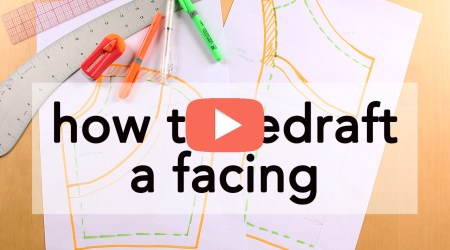 How to Redraft a Facing, video tutorial | Vintage on Tap