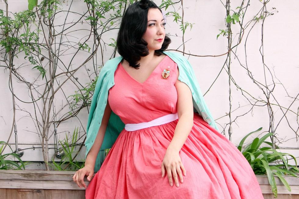1950s vintage dress, Vogue 8789 | Vintage on Tap