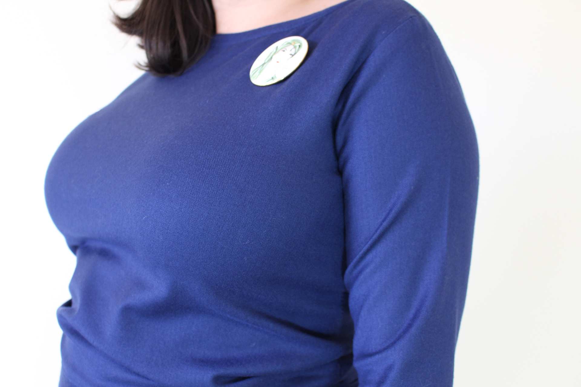 No Dart Full Bust Adjustment, Astoria Sweater, Britex Fabrics | Vintage on Tap