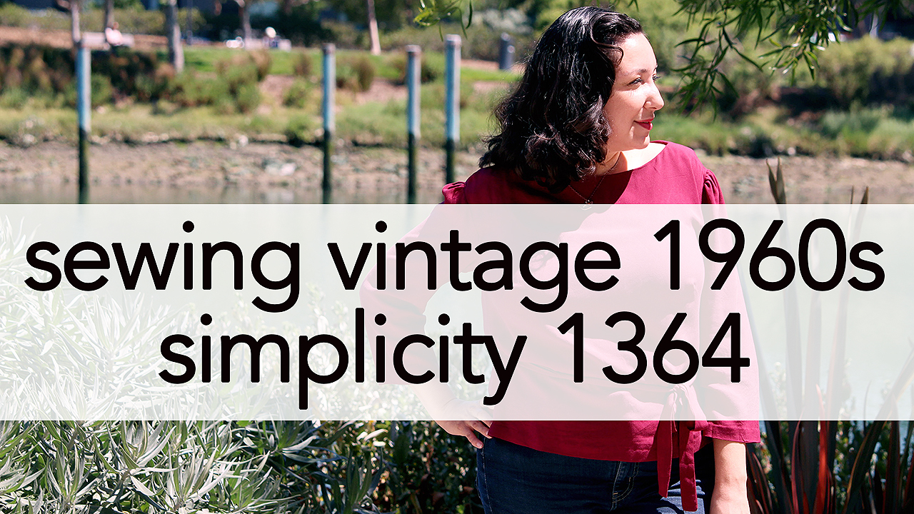 How to Sew Vintage Simplicity 1364 | Vintage on Tap
