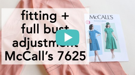 Vintage McCall's 7625 how to fit | Vintage on Tap