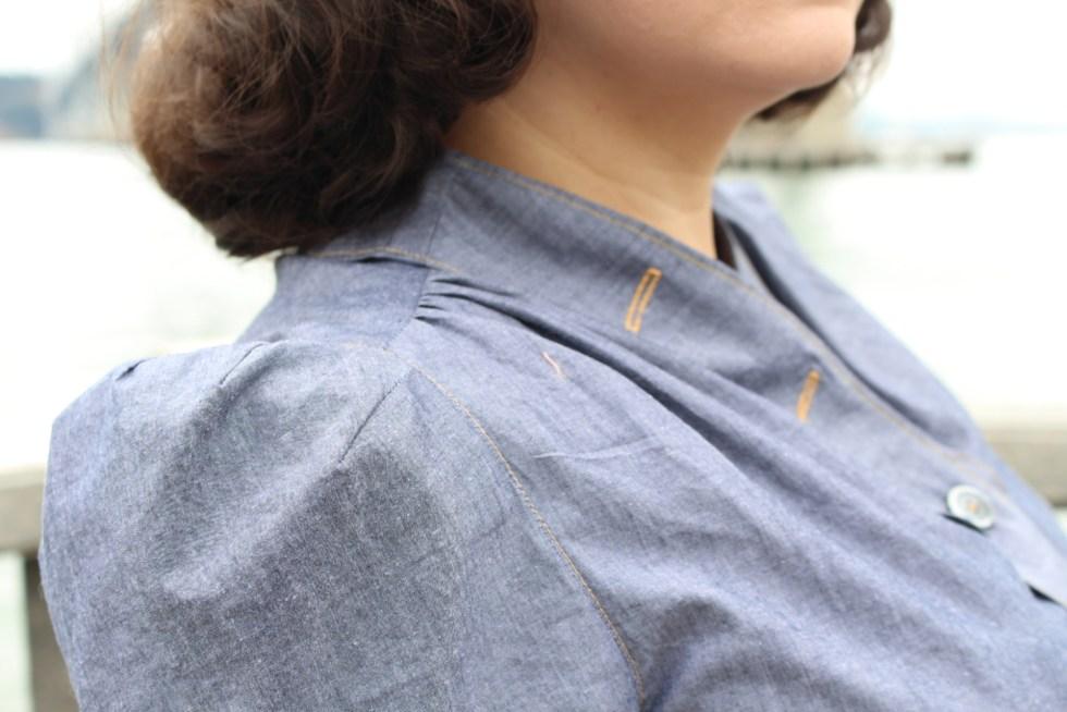 Shoulder detail, vintage 1940s B6282 | Vintage on Tap