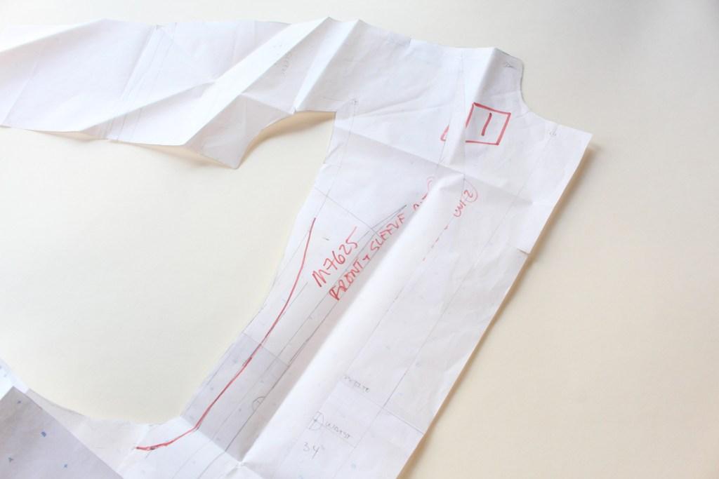 Vintage McCall's 7625 pattern drafting | Vintage on Tap