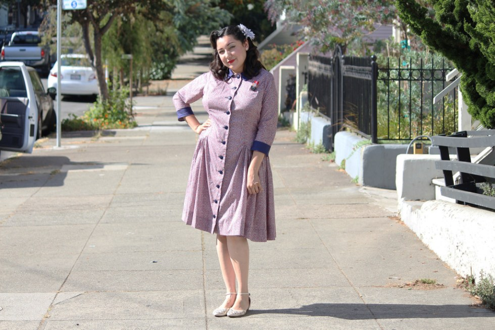 Long sleeve McCall 7625, how to sew | Vintage on Tap