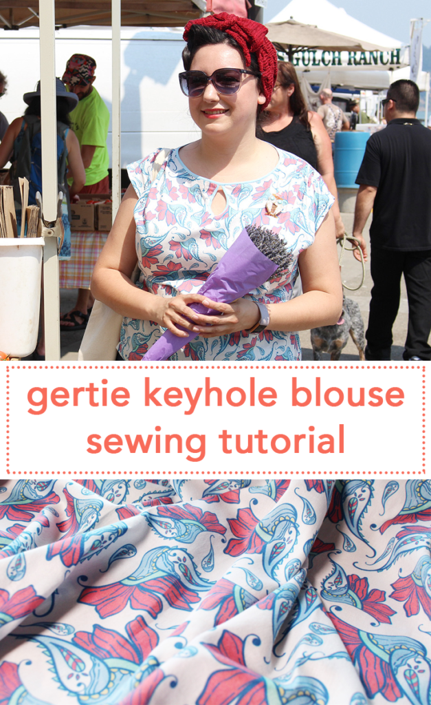 Sewing video tutorial to learn how to make the Gertie Keyhole Blouse! | Vintage on Tap