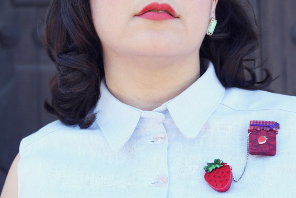 Collar close up, the Colette Penny dress | Vintage on Tap