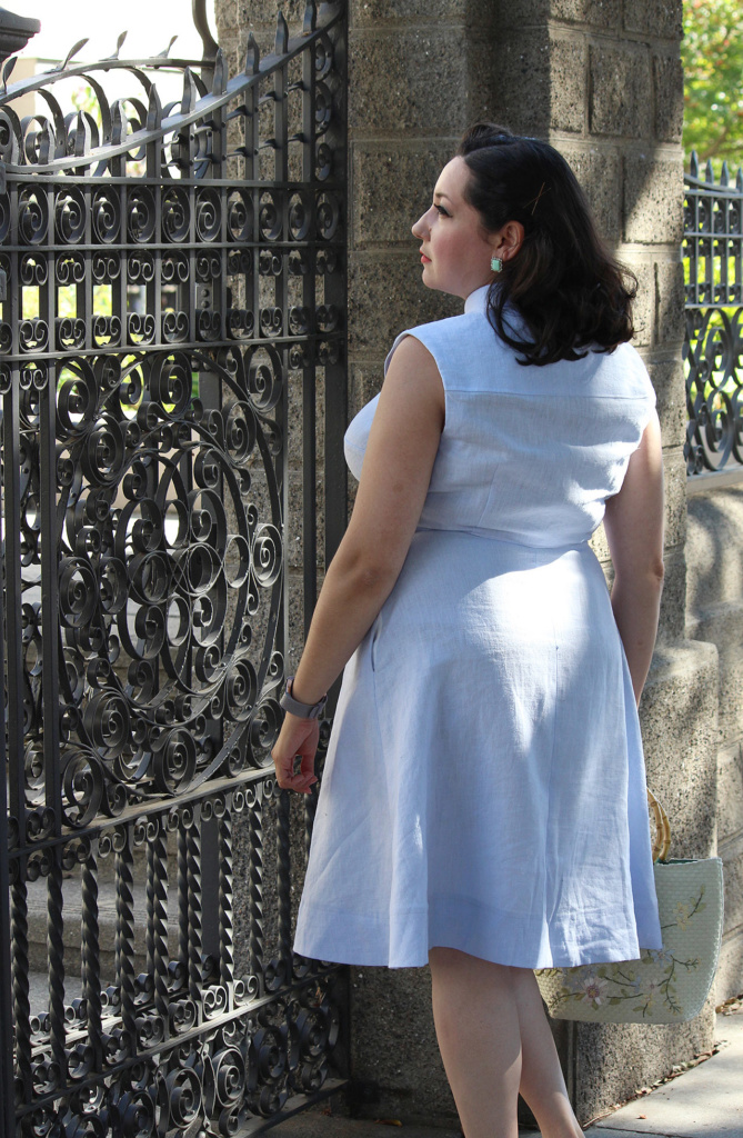 Sewing tips for the 1950s inspired Colette Penny shirtdress, with video tutorial   Vintage on Tap
