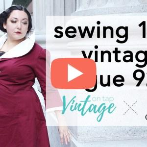 How to Sew Vintage Vogue 9280 Walkthrough | Vintage on Tap