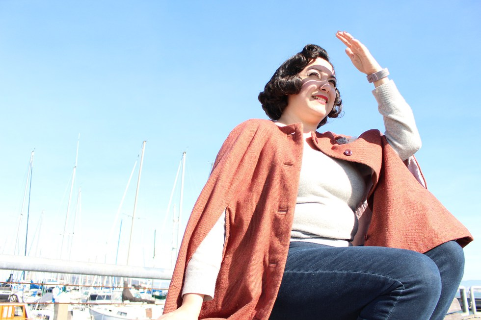 Sewing walkthrough for how to sew a vintage cape in this video tutorial! | Vintage on Tap