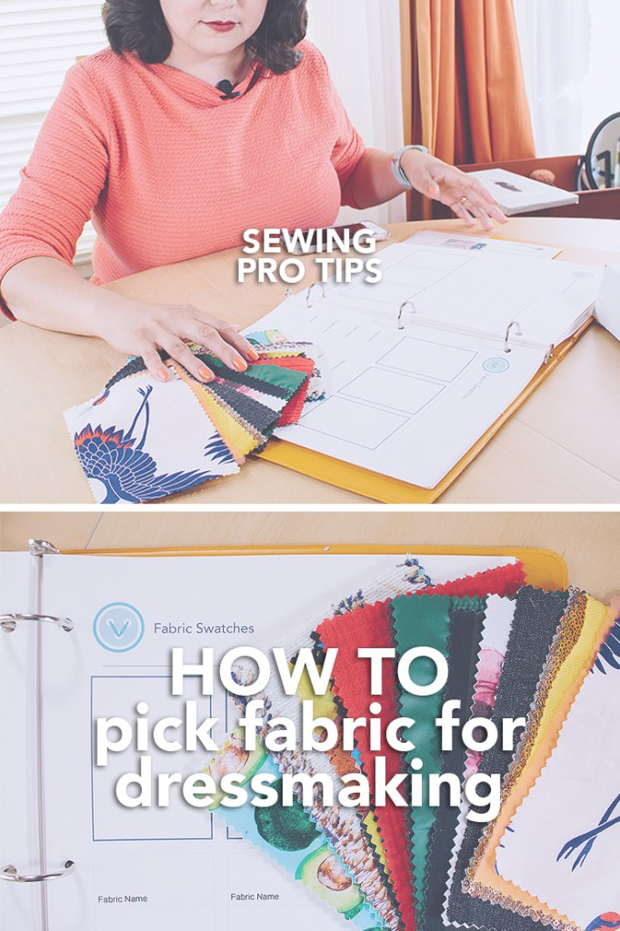 Don't know how to pick fabric for dressmaking? Watch this video tutorial to learn how to select the right fabric for your sewing projects! | Vintage on Tap Pinup Sewing Blog