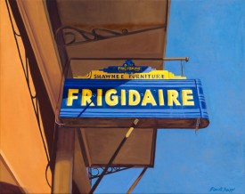 "Shawnee Frigidaire (10"" x 12.5"") http://goo.gl/9dlUap All canvas prints are in limited editions and are signed by me. Copyright (C) reserved."