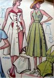 vintage pattern 1940s halter dress