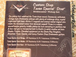 Prewired Strat Pickguard: Fender CS Texas Specials