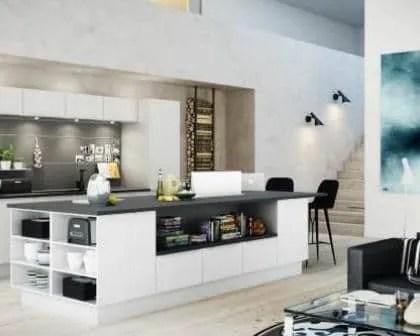 Remodelações de cozinhas de luxo com ilha.