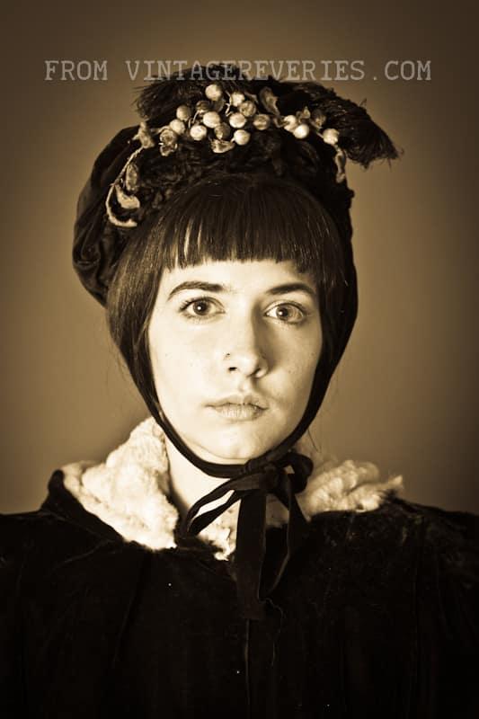 1800s winter bonnet
