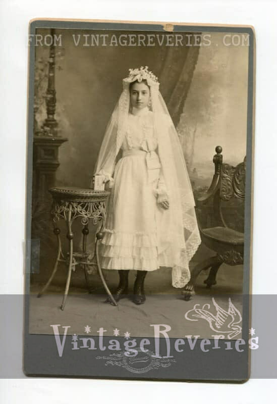 first communion photo 1890s