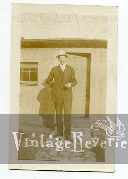1927 man in front of a house photo