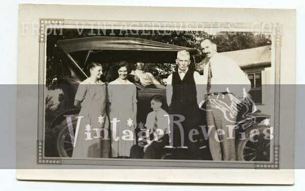 1920s old car and family photos