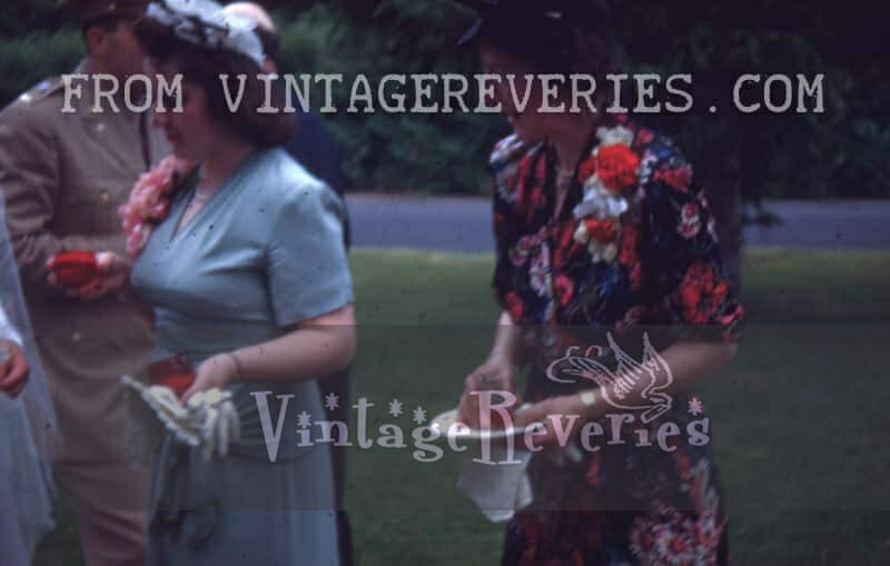 1940s women drinking punch with gloves off