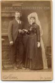 1800s bridal photography
