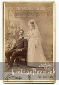 1890s bride and groom